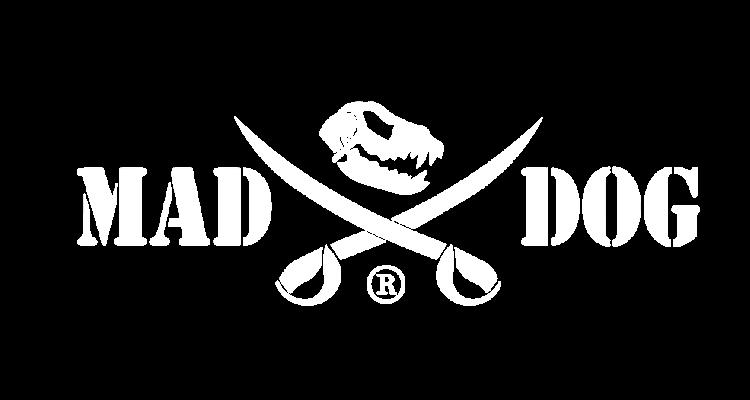 Mad Dog Knives Logo White
